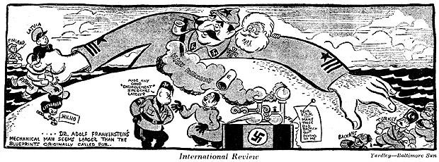 Karikatur hitler stalin pakt Reaktionen auf