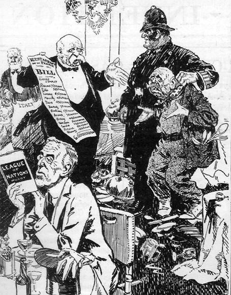 Karikaturen Zum Vertrag Von Versailles